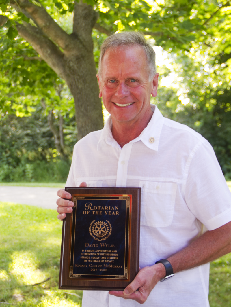 Rotarian of the Year Past-President David Wylie