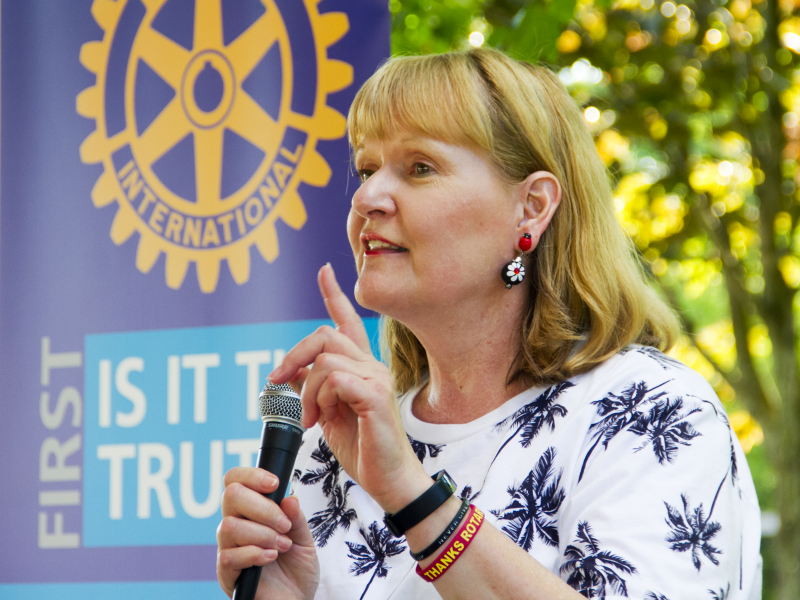 Rotary International Director & McMurray Rotarian Stephanie Urchick